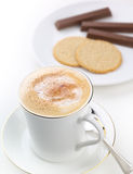 Cappuccino coffee break Stock Photo