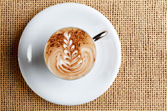 Cappuccino coffee cup Stock Photography