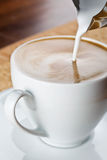 Cappuccino coffee cup Stock Image