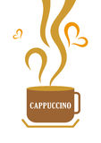 Cappuccino Coffee Cup. Illustration of a cappuccino coffee cup stock illustration