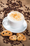 Cappuccino, coffee cup Royalty Free Stock Photos
