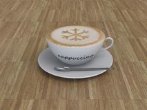 Cappuccino coffee cup Royalty Free Stock Photo