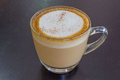 Cappuccino coffee. Cup drink  milk porcelain  sweet Stock Images