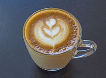 Cappuccino coffee. Cup drink  milk porcelain  sweet Royalty Free Stock Image