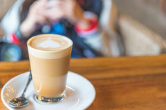 Cappuccino coffee . Royalty Free Stock Photo