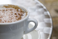 Cappuccino coffee cup outdoor Royalty Free Stock Image