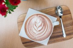 Cappuccino coffee details. In natural light Royalty Free Stock Photo