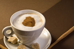 Cappuccino coffee drink Stock Image