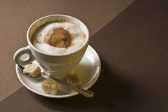 Cappuccino coffee drink Royalty Free Stock Image