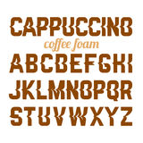 Cappuccino coffee foam art alphabet Stock Image