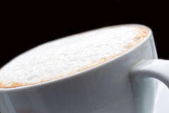 Cappuccino coffee -isolated on white background Royalty Free Stock Photo