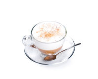Cappuccino coffee isolated on white Stock Images