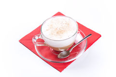 Cappuccino coffee isolated on white Stock Photo