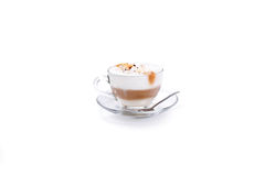 Cappuccino coffee isolated on white Royalty Free Stock Image