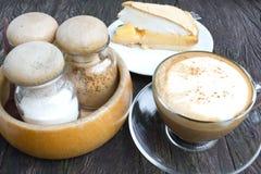 Cappuccino coffee with lemon meringue Royalty Free Stock Image