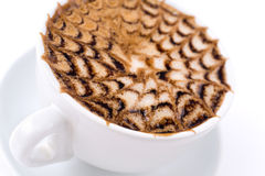 Cappuccino coffee, macro Royalty Free Stock Photography