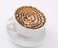 Cappuccino coffee, macro Stock Image