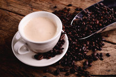 Cappuccino - coffee and milk Stock Images
