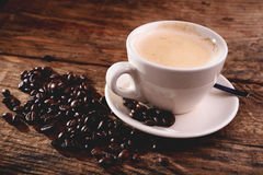 Cappuccino - coffee and milk Stock Image