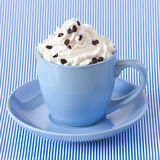 Coffee with whipped cream. Royalty Free Stock Image