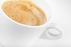 Cappuccino coffee in white ceramic cup Stock Photo