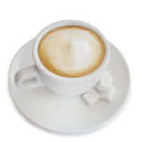 Cappuccino coffee in a white cup Stock Image