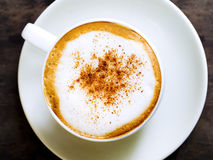 Cappuccino coffee in white cup Stock Photography