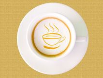Cappuccino coffee in white cup Stock Photo