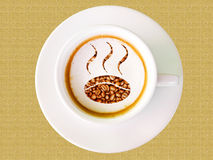 Cappuccino coffee in white cup Royalty Free Stock Photos