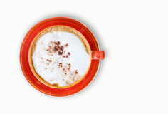 Cappuccino in colorful cup Royalty Free Stock Photography