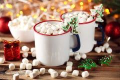 Cappuccino com marshmallow Fotografia de Stock Royalty Free