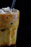 Cappuccino congelado com caramelo Imagens de Stock