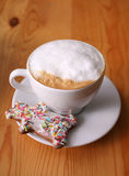 Cappuccino and cookie Royalty Free Stock Photo