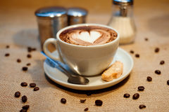 Cappuccino with cookie Royalty Free Stock Photography
