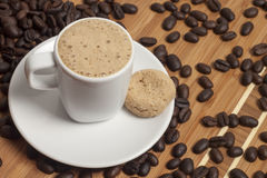 Cappuccino with cookie Stock Image