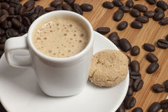 Cappuccino with cookie Stock Photo