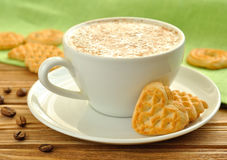 Cappuccino and cookies Royalty Free Stock Images