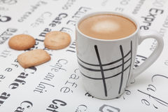 Cappuccino with cookies Stock Photo