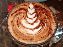 Cappuccino with a cream game design Stock Image
