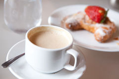 Cappuccino and Croissant Royalty Free Stock Image