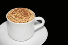 Cappuccino cup Stock Images