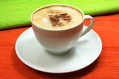 Cappuccino cup Stock Photos