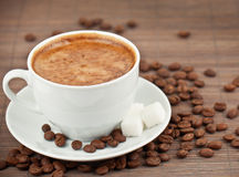 Cappuccino in cup Stock Photo