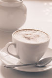 Cappuccino cup Stockfotografie