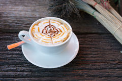 Cappuccino cup Photo stock