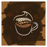 Cappuccino cup brown poster print Stock Photo