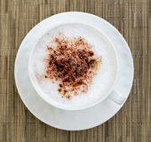 Cappuccino in a cup of cocoa Royalty Free Stock Image