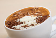 Cappuccino cup.coffee Photo stock