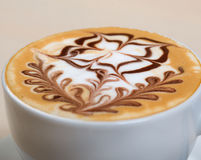 Cappuccino cup.coffee Royalty Free Stock Images