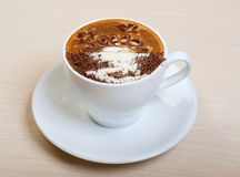 Cappuccino cup.coffee Royalty Free Stock Image